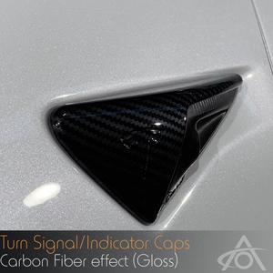 Bilde av Karbonfiber side-blinklys Tesla Model S 3 X Y